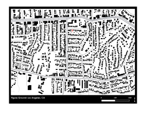 A figure ground diagram of my Eagle Rock neighborhood.