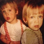 Probably the only time we had matching haircuts and clothes
